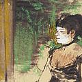 Singer In A Cafe Concert by Edgar Degas