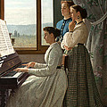 Singing A Ditty by Silvestro Lega
