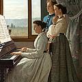 Singing A Ditty by Silvestro Lega