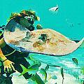 Singray City Cayman Islands Four by John Malone