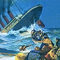 Sinking Of The Titanic by English School