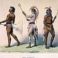 Sioux Lacrosse Players by Granger