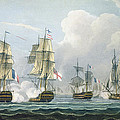 Sir Richard Strachans Action After The Battle Of Trafalgar by Thomas Whitcombe