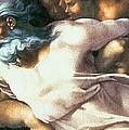 Sistine Chapel Ceiling Creation Of Adam by Michelangelo Buonarroti