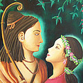 Sita Rama In The Forest by Christine  Sherwood