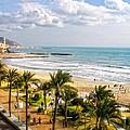 Sitges Spain On The Mediterranean Coast by Lars Lentz