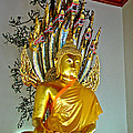 Sitting Buddha In Wat Po In Bangkok-thailand by Ruth Hager