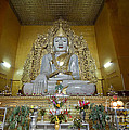 sitting Buddha made from one single marble block in KYAUKTAWGYI PAGODA by Juergen Ritterbach