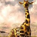 Sitting Giraffe by Daniel Eskridge