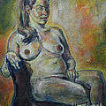 Sitting Nude by Raija Merila