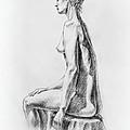 Sitting Woman Study by Irina Sztukowski