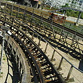 Six Flags America - Roar Roller Coaster - 12124 by DC Photographer