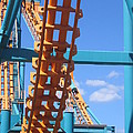 Six Flags America - Two-face Roller Coaster - 12121 by DC Photographer