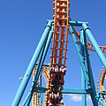 Six Flags America - Two-face Roller Coaster - 12124 by DC Photographer