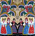 Six Women Dancing by Leif Sodergren