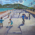 Skateboaders  Teignmouth by Andrew Macara
