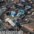 Skateboard Graveyard London England Poster by Dariusz Janczewski