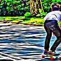 Skateboarder In Central Park by Alice Gipson