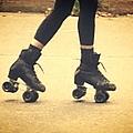 Skates In Motion by Christy Gendalia