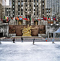 Skating At Rockefeller Plaza by Mountain Dreams