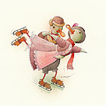 Skating Ducks 2 by Kestutis Kasparavicius