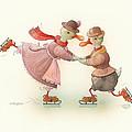 Skating Ducks 3 by Kestutis Kasparavicius