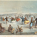 Skating In Central Park. New York by Winslow Homer