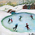Skating Pond by Laurie Morgan