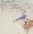 Sketch Of A Young Woman In A Boat by Berthe Morisot