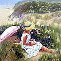 Sketching Vineyard Dunes by Candace Lovely