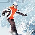Ski 2 by Anita Hubbard