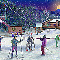 Ski Area Campton Mountain by Nancy Griswold