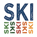 Ski Cute Colorful by Flo Karp