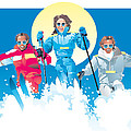 Ski Fun Art by Robert Korhonen