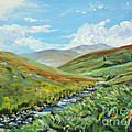 Skiddaw And Little Man by Sheila  Vickers
