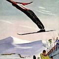Ski Jump On Vanity Fair Cover by Deyneka