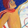 Skiers Exhilaration  by Avonelle Kelsey
