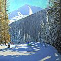 Skiing  Beauregard La Clusaz by Andrew Macara