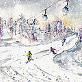 Skiing In The Dolomites In Italy 01 by Miki De Goodaboom