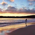 Skimboarder Sunset #2 by Nikolyn McDonald