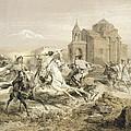 Skirmish Of Persians And Kurds by Grigori Grigorevich Gagarin