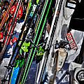 Skis At Mccauley Mountain II by David Patterson