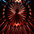 Skc 0285 Cut Glass Plate In Red And Blue by Sunil Kapadia