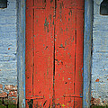 Skc 0401 Closed Red Door by Sunil Kapadia