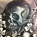 Skull And Hourglass by Stacey Sherman