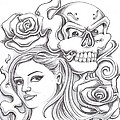 Skull And Roses by Lupe Gonzalez