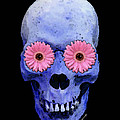 Skull Art - Day Of The Dead 1 by Sharon Cummings