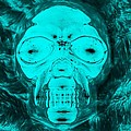 Skull In Negative Turquois by Rob Hans