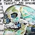 Skull Quoting Oscar Wilde.10 by Fabrizio Cassetta