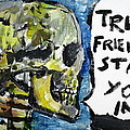 Skull Quoting Oscar Wilde.2 by Fabrizio Cassetta